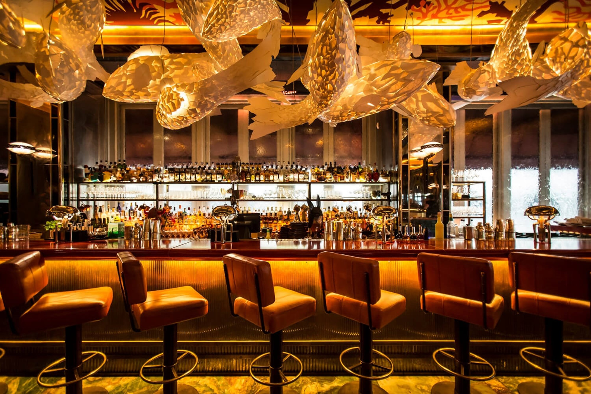 The Bar at Sexy Fish in Mayfair is open until late and holds the world's largest whisky collection