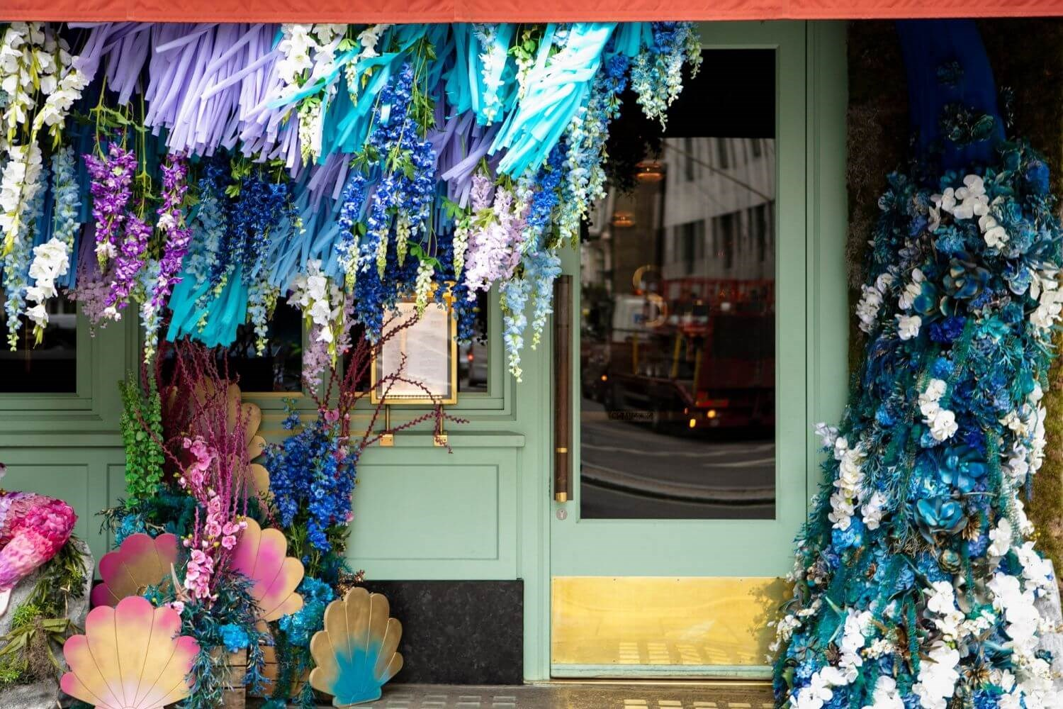 Chelsea Flower Show installation at Sexy Fish in London Mayfair